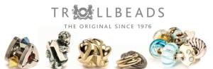 beads argento, oro e vetro Trollbeads